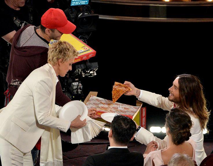 Ellen's celebrity pizza party