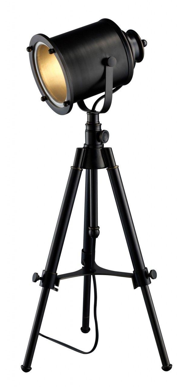 Ethan adjustable tripod table lamp fotografia pinterest - Tripod spotlight table lamp ...
