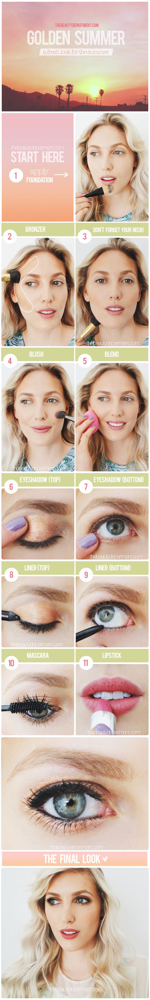 Try this flawless look for the summer.
