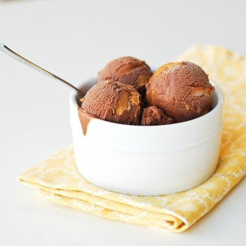 ... Double Chocolate Peanut Butter Ice cream. #food #ice #cream #chocolate
