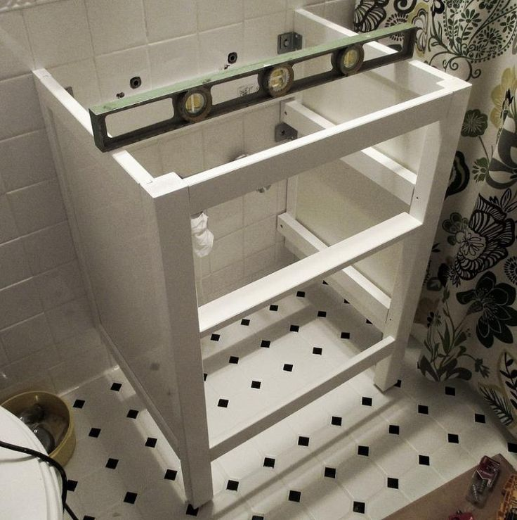 Bathroom Renovation :: How to Install an Ikea Hemnes Sink Cabinet