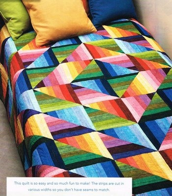 Free strip piecing quilt pattern