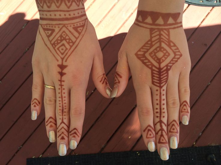 Simple tribal henna designs