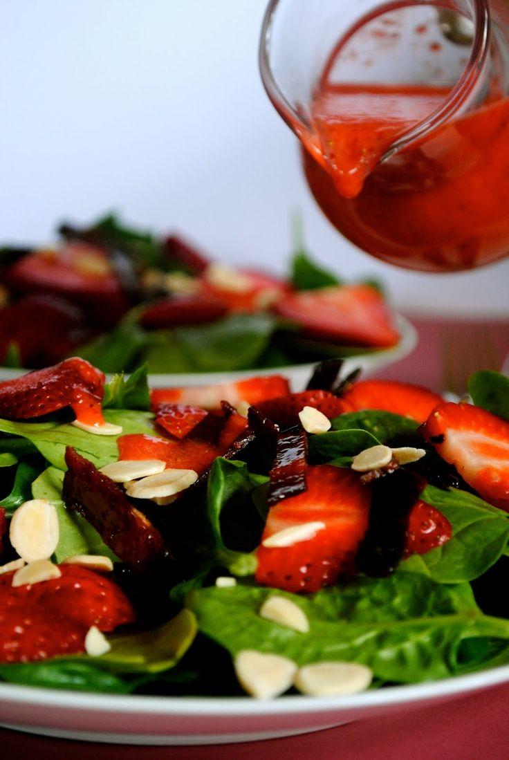 strawberry spinach salad | salads | Pinterest