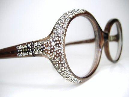 Chanel Eyeglass Frames With Rhinestones : loving these specs Fashion...! Pinterest