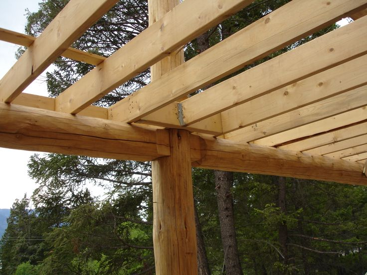 Log porch posts and deck building your log home pinterest for Log cabin porches and decks