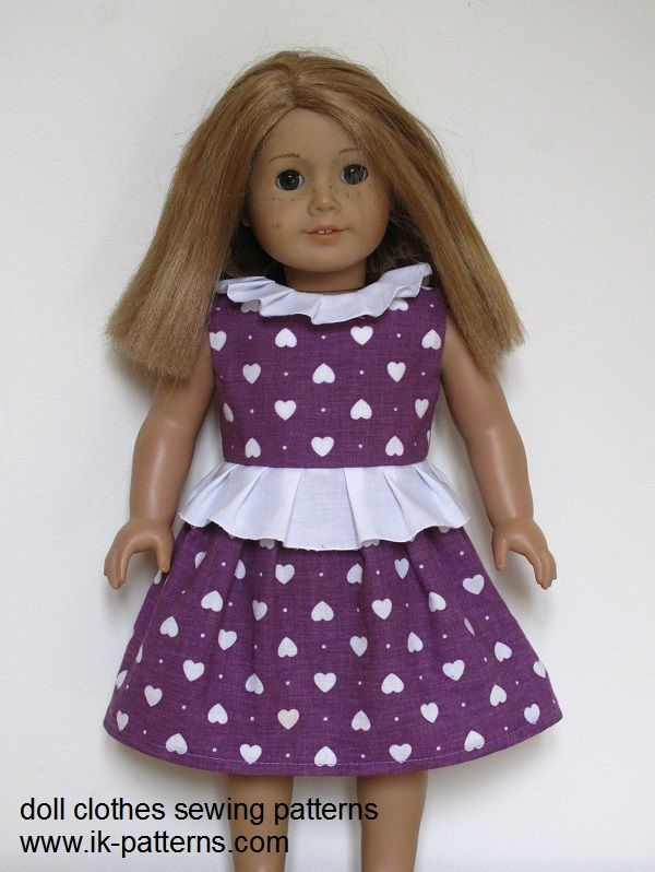 """18"""" American Girl Doll clothes sewing patterns to download"""