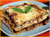 this looks awesome - low cal low fat cheesy eggplant lasagna! yum ...