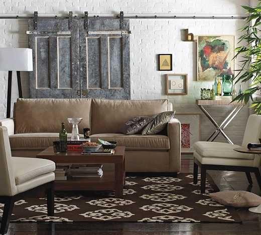 Living Room Sliding Barn Doors Farmhouse Style Pinterest