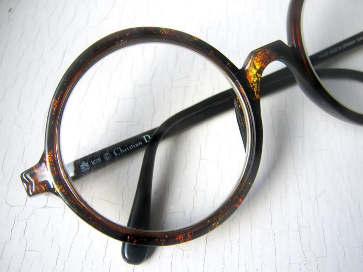 Large Round Frame Glasses : Rare 70s Christian Dior 360 Round Eyeglass Frames Large ...