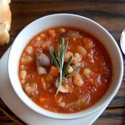 White Bean & Mushroom Stew. Delicious and healthy vegan stew.