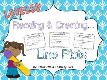 Reading and Creating Line Plots With Fractions {Leveled Worksheets} $