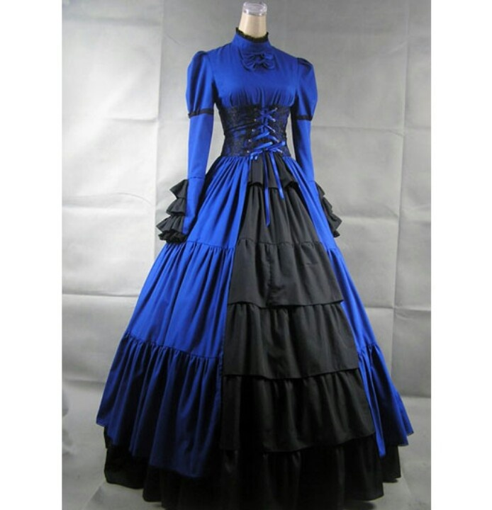Beautiful Victorian Gothic Dress With Long Sleeves
