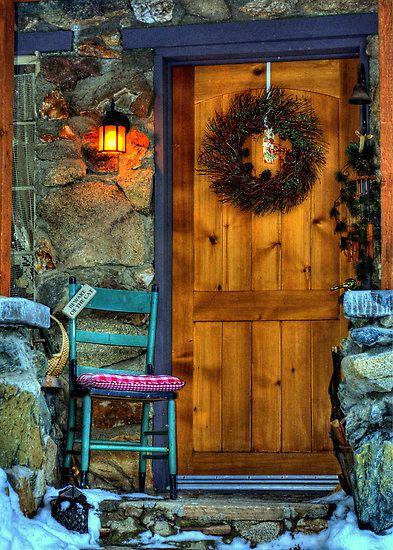 cottage door.winter