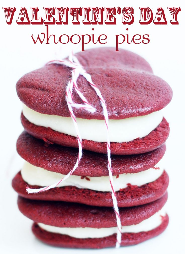 Red Velvet Whoopie Pies :) I made these at Valentine's Day and they ...