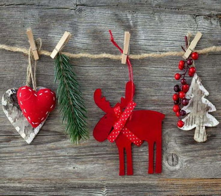Country christmas decorations diy crafts pinterest for Homemade country christmas ornaments