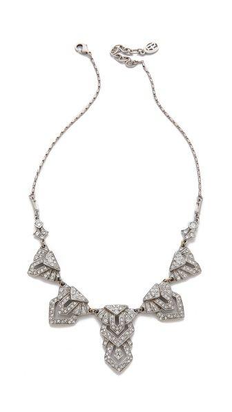 Shop now: Ben-Amun Deco Crystal Necklace