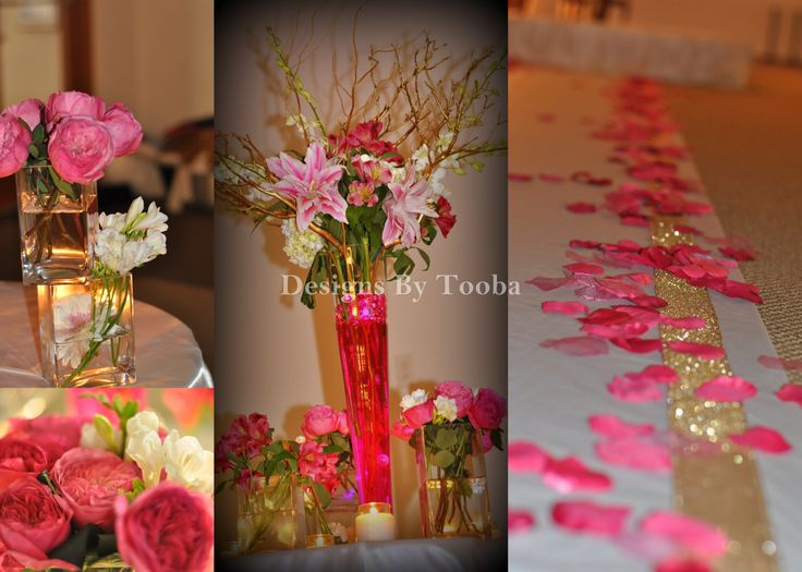 Pretty With Pink Fresh Flower Centerpieces For Weddings And