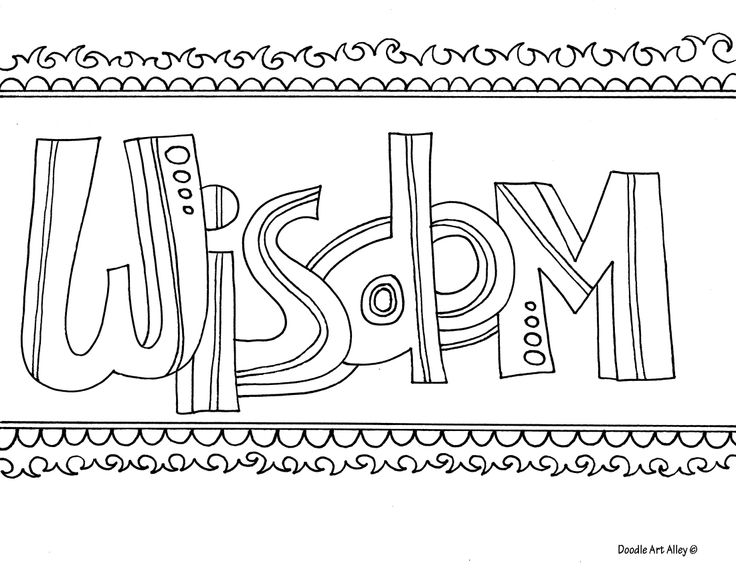 Printable Coloring Pages Of The Word Wisdom Sketch Page