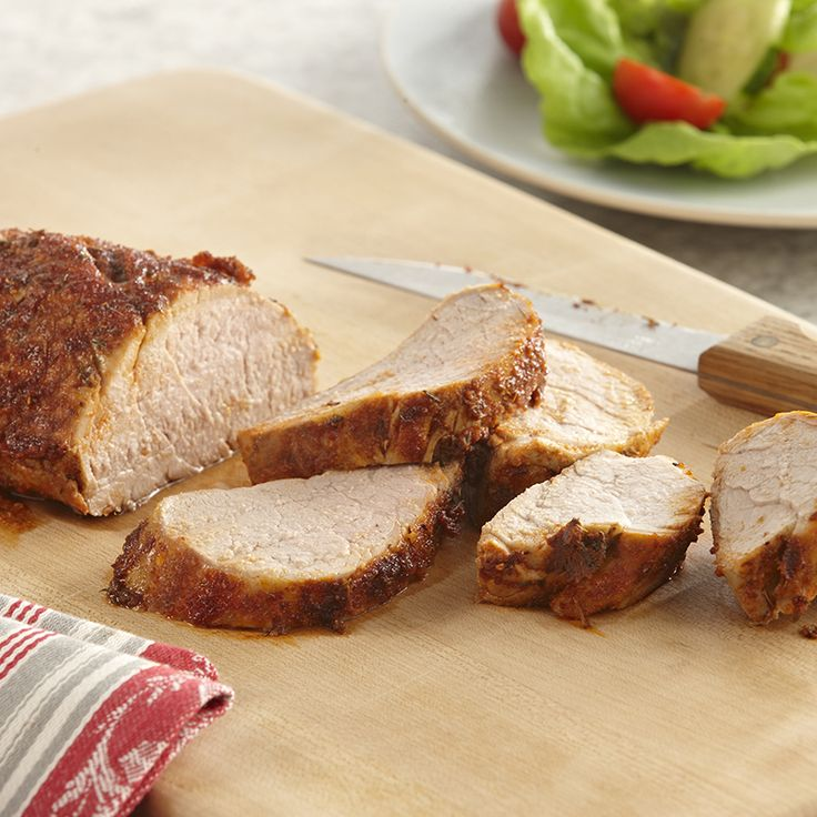 Pork tenderloin's mild flavor pairs well with a seasoning rub that ...