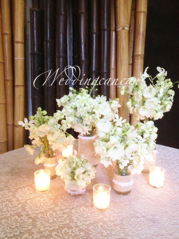 #white #vintage #centerpiece #flower #decor #Weddingcancun by #latinasia