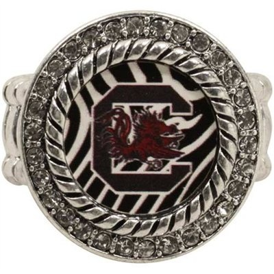 South Carolina Gamecocks Zebra Twisted Rope Stretch Ring--- I have this