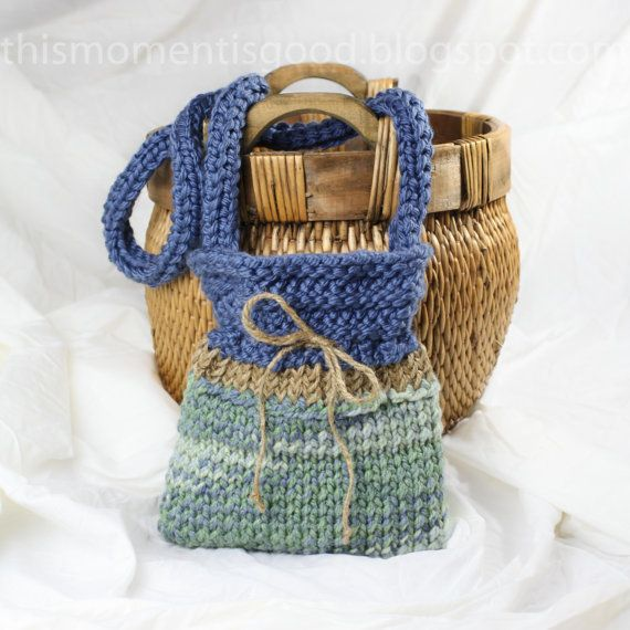 Easy Handbag Pattern : Knit Weekender Handbag Pattern: PATTERN ONLY! Quick and Easy Pattern ...