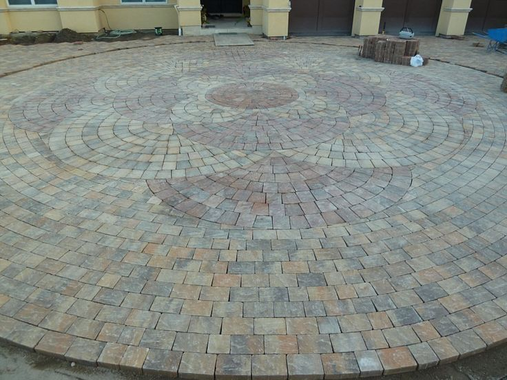 ... Circular Patio Kit By Circular Paver Pattern The Landscape Pinterest ...