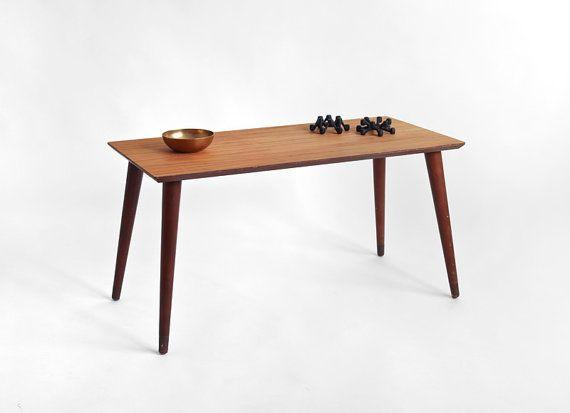Vintage Teak Wood Coffee Table Mid Century Modern Danish Retro