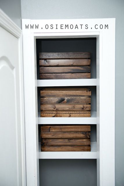 Diy bathroom closet shelving decorating pinterest