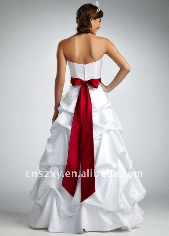 Pinterest discover and save creative ideas for Wedding dress with red sash