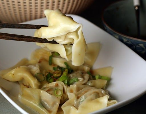Chicken Wontons with Spinach | AsianSupper I want to try this
