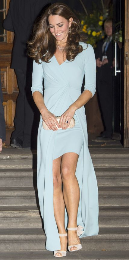 Look of the Day - October 22, 2014 - Kate Middleton in Jenny Packham from #InStyle
