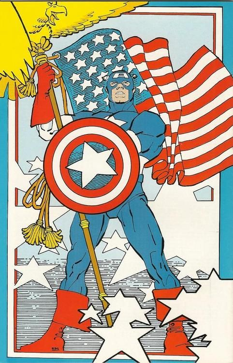 Captain America by Frank Miller, 1984.