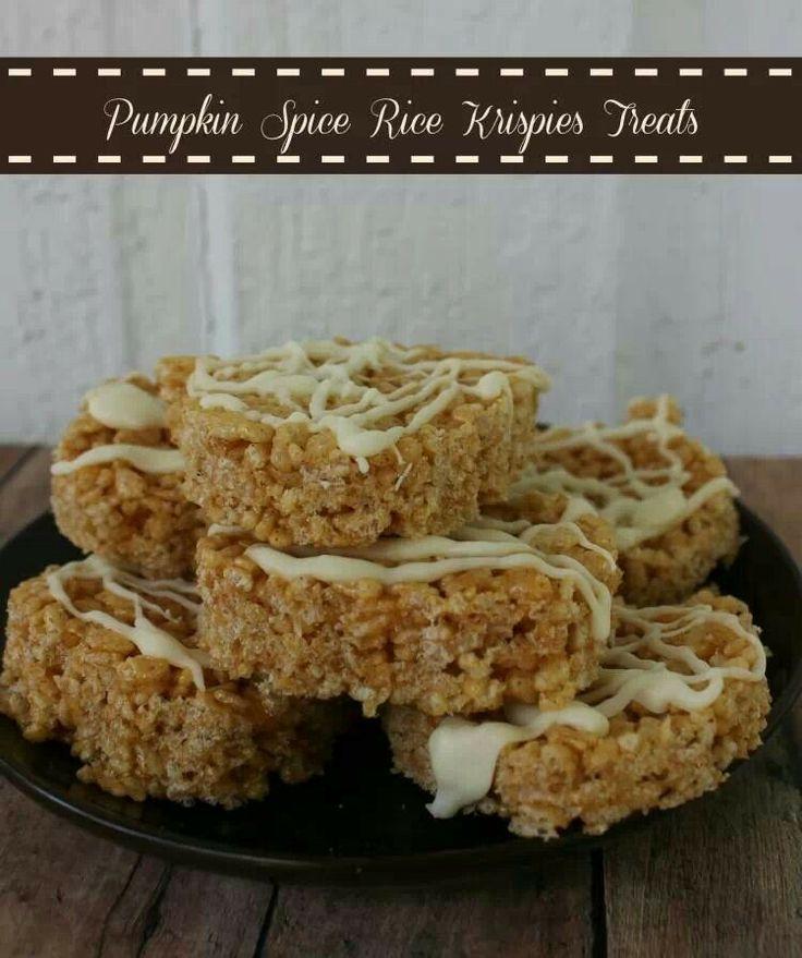 Pumpkin spice rice krispie treats   Crafty Creations   Pinterest