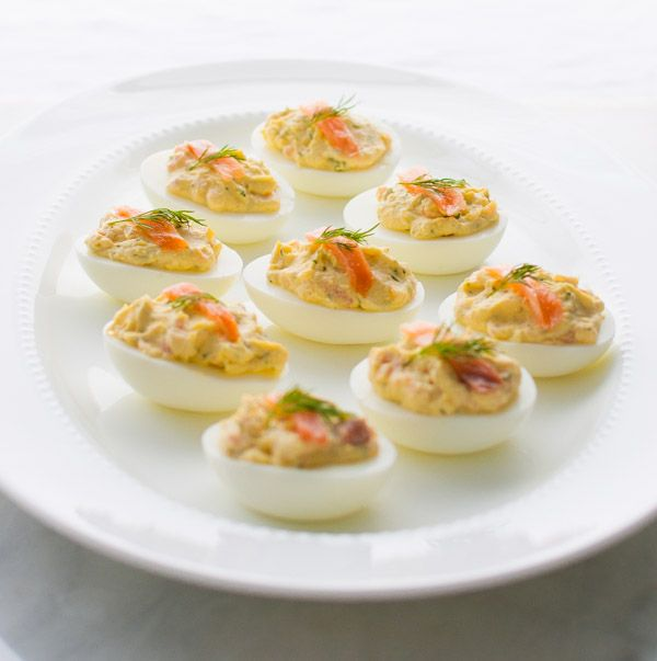 Smoked Salmon Deviled Eggs - Taming of the Spoon