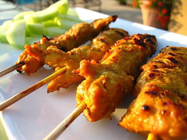 Chicken Satay Skewers with Peanut Sauce   Asian Cuisine   Pinterest