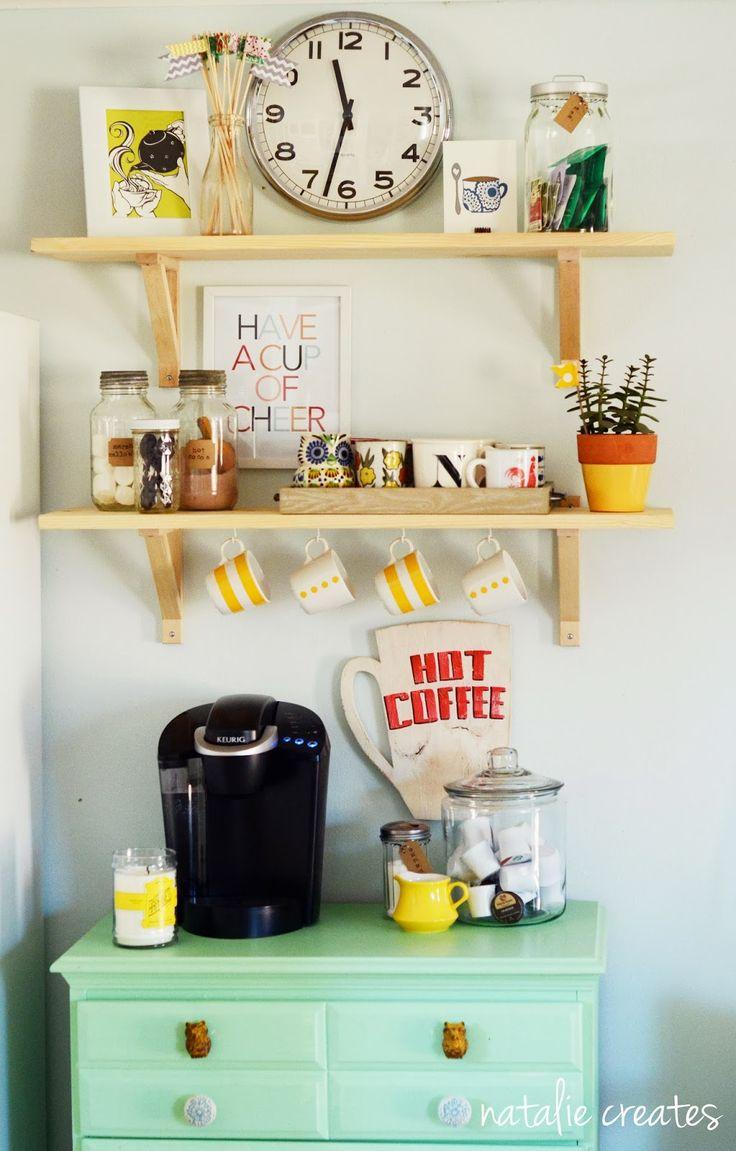 coffee bar // natalie creates #coffeebar #homeimprovement #diy