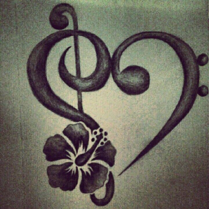 bass clef treble clef tattoo tattoos pinterest. Black Bedroom Furniture Sets. Home Design Ideas