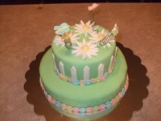 Spring themed cake