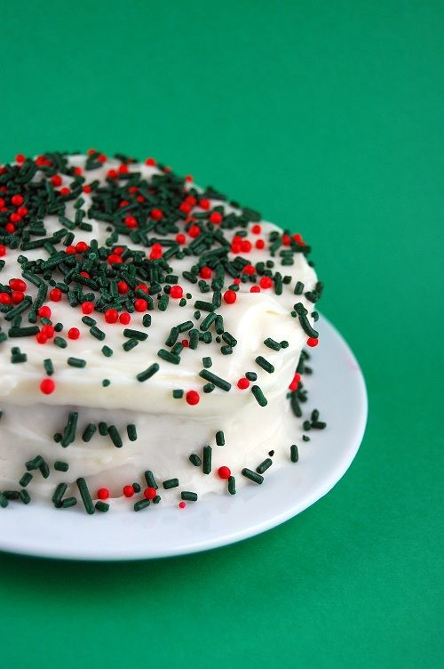 Egg Nog Cake with Bourbon-Cream Cheese Frosting