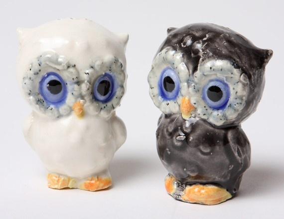 Salt and pepper shakers owls pinterest