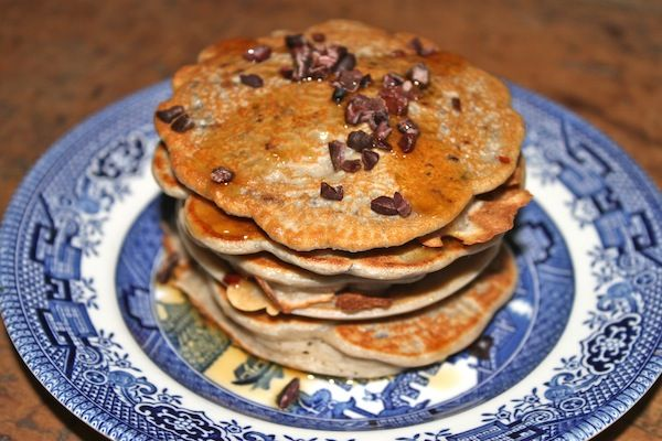 Coconut And Cacao Nibs Pancake Tower Recipes — Dishmaps
