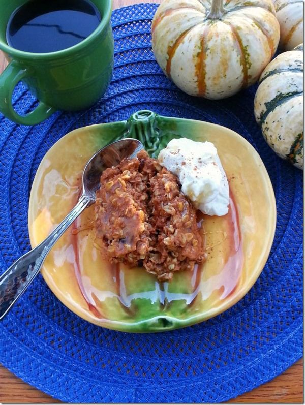 Pumpkin Banana Baked Oatmeal | Mmmm. . . | Pinterest
