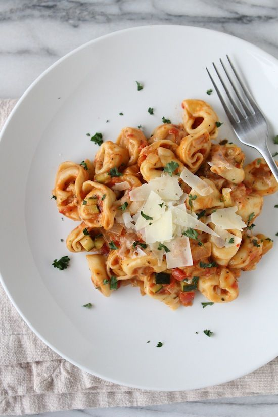 Italian herb baked cheesy tortellini made with Land O'Lakes Saute ...