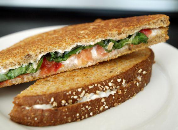 Tomato Basil Sandwich   Healthy food   Pinterest