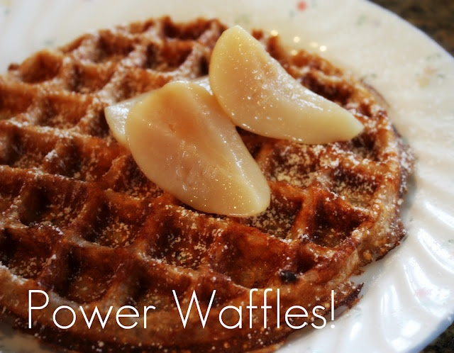 Power waffle with low fat cottage cheese and oatmeal, awesome low fat ...