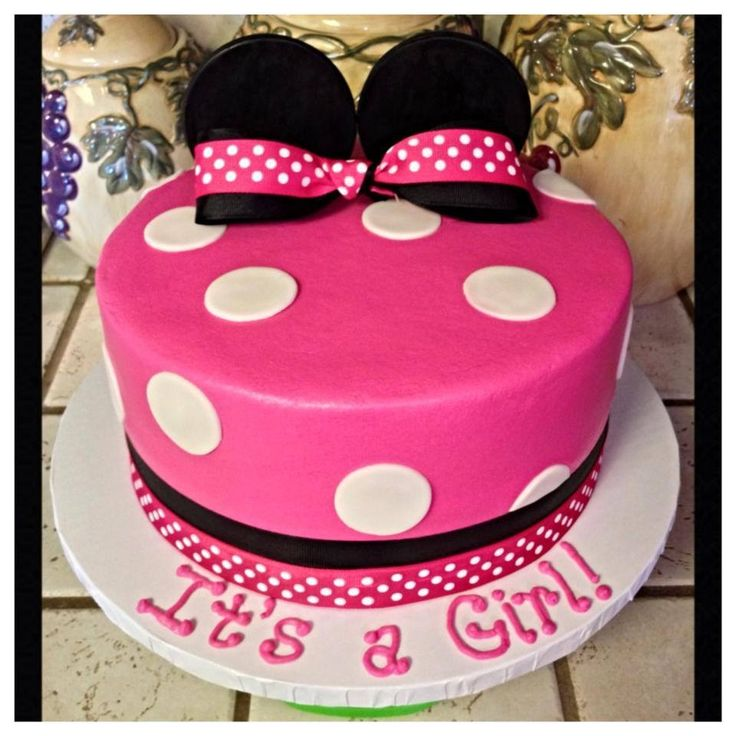 Minnie Mouse baby shower cake :) Baby baby baby Pinterest