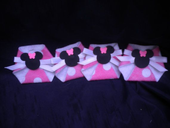 48pc dirty diaper game minnie mouse baby shower favors games