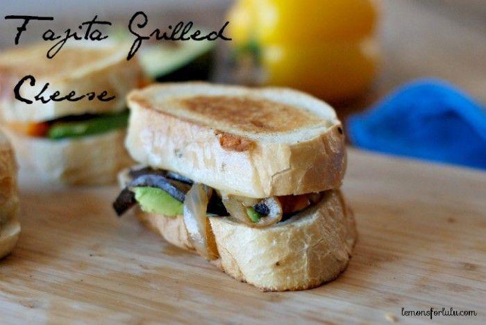 spicy kicked up Fajita grilled cheese sandwich! www.lemonsforlulu ...